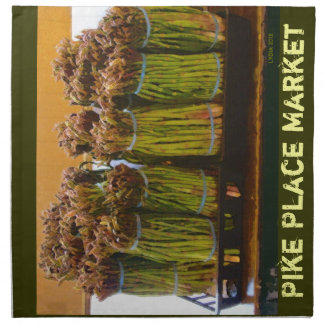 Fresh Asparagus- The Pike Place Market Napkin