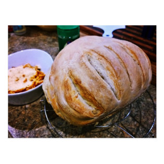 Fresh Baked Bread and Pasta Postcard