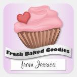 Fresh Baked Goodies Pink & Purple Cupcake Stickers