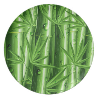 Fresh Bamboo with Dew Plate