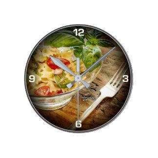 Fresh Basil Salad Kitchen Clock