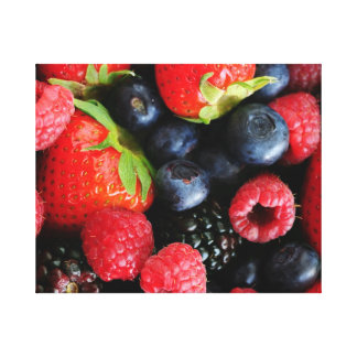 Fresh berries canvas print