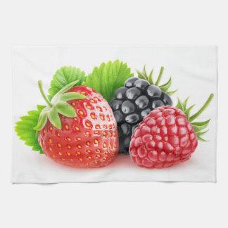 Fresh berries kitchen towel