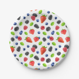 Fresh berries paper plate