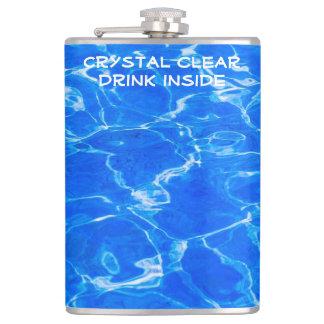 Fresh Blue Water Hip Flask