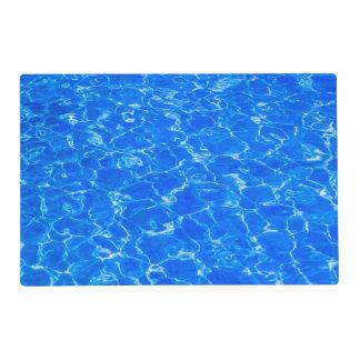 Fresh Blue Water Laminated Place Mat