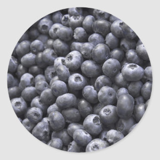 Fresh blueberries classic round sticker