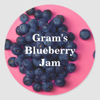 Fresh Blueberries Custom Blueberry Jam Classic Round Sticker