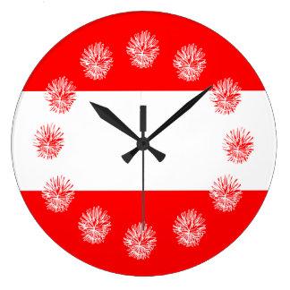 Fresh bold Nautical stripes Large Clock