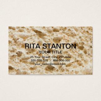 Fresh bread pattern business card