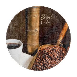 Fresh Brewed Coffee Cutting Board - Round