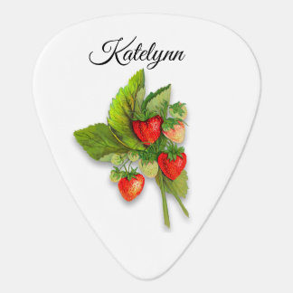 Fresh Bunch of Strawberries Guitar Pick