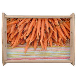 Fresh carrots serving tray