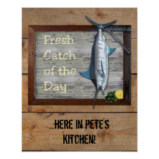 Fresh Catch of the Day (customizable) Poster