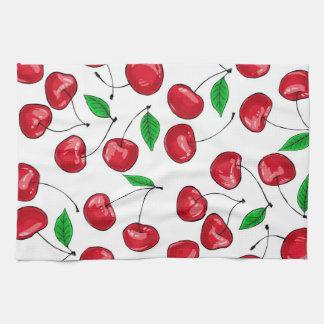 Fresh cherries pattern kitchen towel