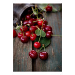 Fresh Cherries Poster