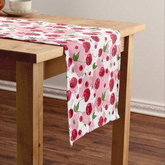 Fresh cherry pattern kitchen fruit table runner