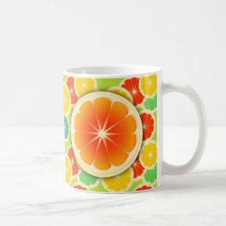Fresh Citrus Fruit Design, Cute Colorful Coffee Mug