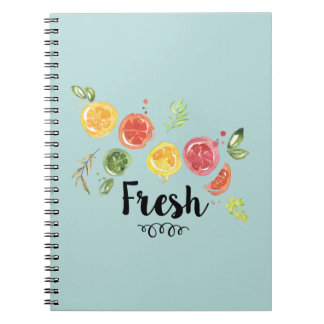 Fresh -  Citrus Fruits in Watercolor Notebooks
