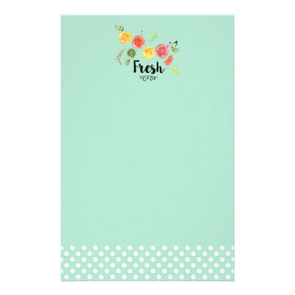 Fresh -  Citrus Fruits in Watercolor Stationery