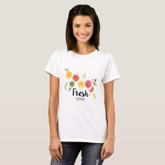 Fresh -  Citrus Fruits in Watercolor T-Shirt