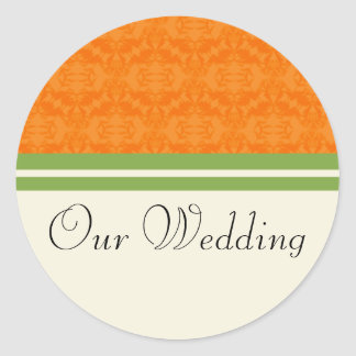 Fresh Citrus Orange Our Wedding Stickers