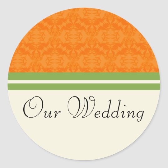 Fresh Citrus Orange Our Wedding Stickers