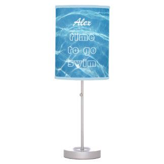 Fresh Clear Cool Blue Aquatic Pool Water Swimming Table Lamp