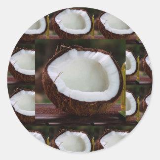 Fresh Coconut chefs healthy flavour cuisine foods Round Sticker