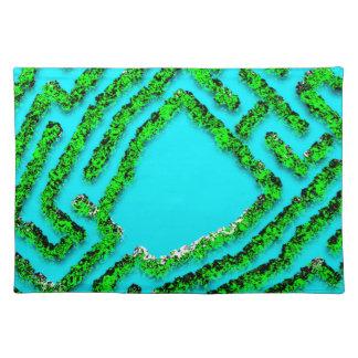 Fresh Colonial Modern Maze design Placemat