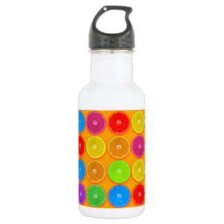 Fresh Colorful Orange Slices 532 Ml Water Bottle