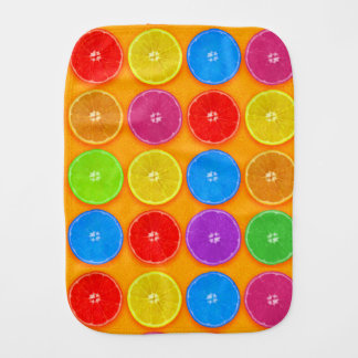 Fresh Colorful Orange Slices Burp Cloth