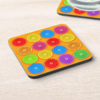 Fresh Colorful Orange Slices Coaster