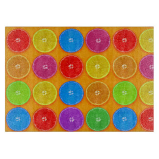 Fresh Colorful Orange Slices Cutting Board