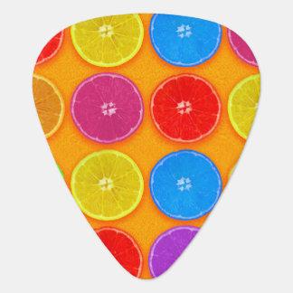 Fresh Colorful Orange Slices Guitar Pick