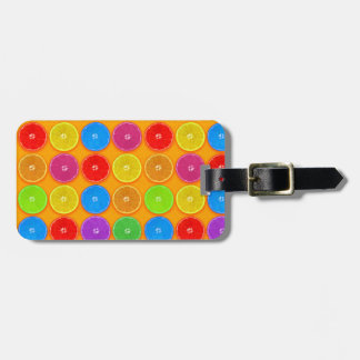 Fresh Colorful Orange Slices Luggage Tag
