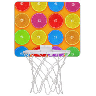 Fresh Colorful Orange Slices Mini Basketball Hoop