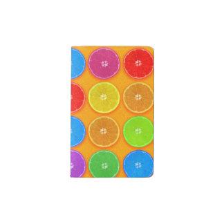 Fresh Colorful Orange Slices Pocket Moleskine Notebook