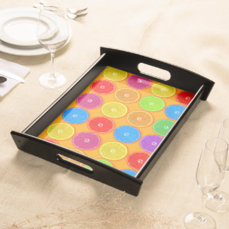 Fresh Colorful Orange Slices Serving Tray
