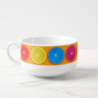 Fresh Colorful Orange Slices Soup Mug