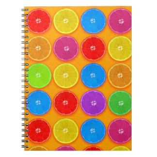 Fresh Colorful Orange Slices Spiral Notebook