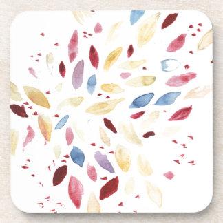 Fresh colourful leaves coaster