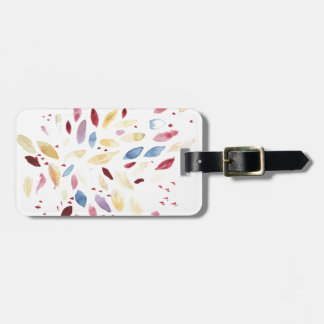 Fresh colourful leaves luggage tag