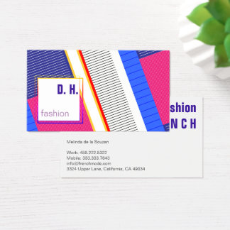 Fresh Cool Fashion colours Business Card