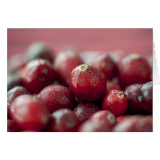 Fresh Cranberries Greeting Card