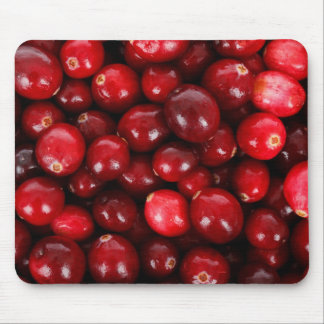 Fresh Cranberry Background Mouse Pads