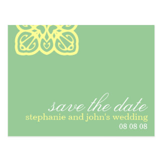 Fresh Customizable Save the Date Postcard