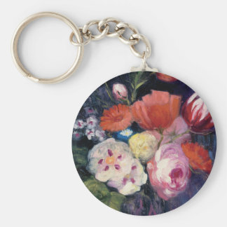 Fresh Cut Spring Flower Basic Round Button Keychain