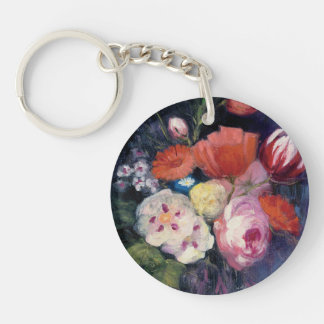 Fresh Cut Spring Flower Double-Sided Round Acrylic Keychain
