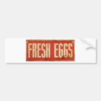 Fresh Eggs Bumper Sticker